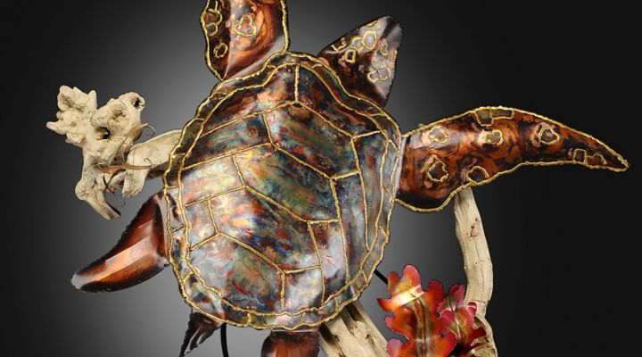Seaturtle Copper Sculpture