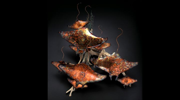 Stingray Copper Sculpture